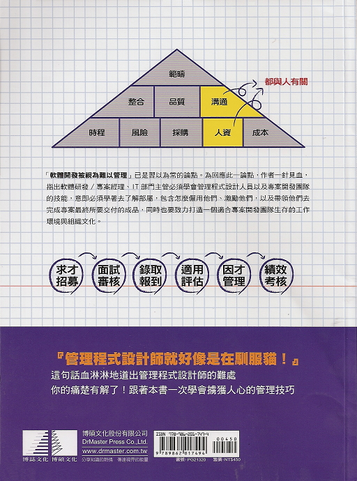 back cover: Managing the Unmanageable, translated into traditional Chinese