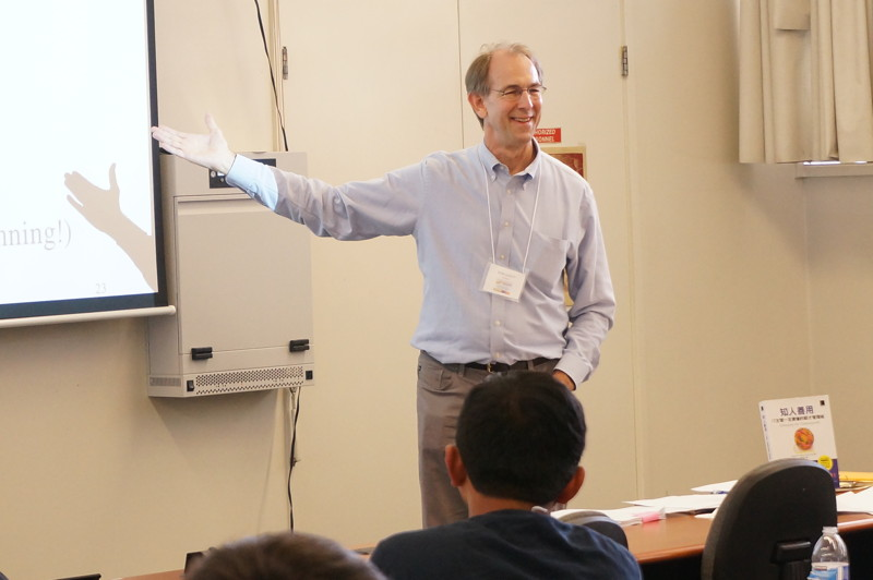 "Co-author Ron Lichty presenting during the one-day class, ""Managing the Unmanageable"" at Code Stars Summit, Oct. 2014."