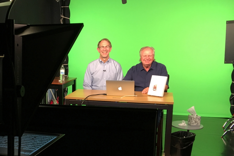 Co-authors Ron Lichty and Mickey Mantle recording 10 hours of Managing Software People and Teams LiveLessons.