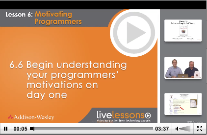 Co-authors Ron Lichty and Mickey Mantle deliver Module 6.6 to LiveLessons: Managing Software People and Teams.