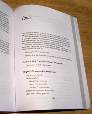 Section Title Page: Tools